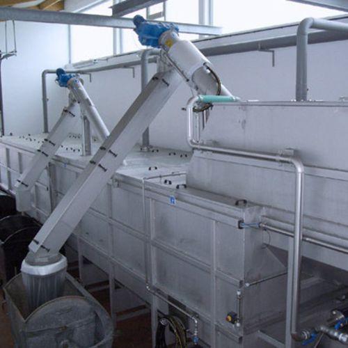 механическая станция очистки для сточных вод