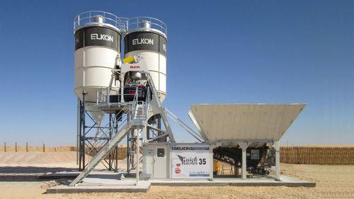 стационарная бетоносмесительная установка