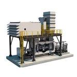 газовая турбина / двухвальная / для производства электроэнергии / с применением механического привода