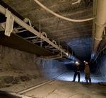 ленточный конвейер / для горнодобывающей промышленности / напольный / широкий