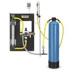 фильтровальная установка с активированным углем / для сточных вод