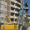 буровая установка со стенкой из бетона, уложенного на месте
