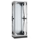 антивибрационная опора для шкафов / прямоугольная / оцинкованная / из листового металла