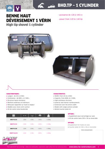 High Tipping Bucket 1 Cylinder