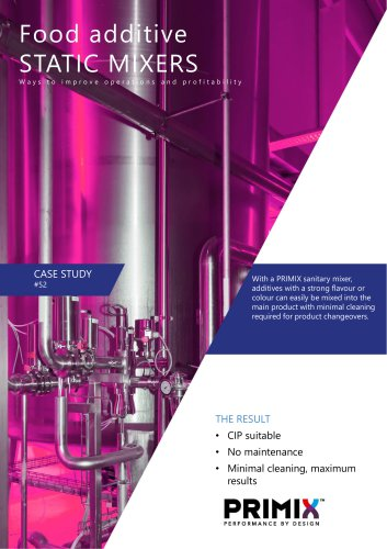 Case study - Static mixers for food additives