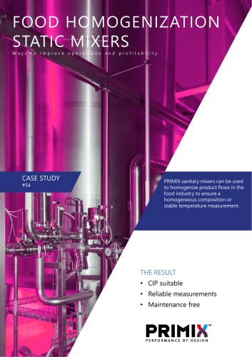 Case study - Static mixers for food homogenization