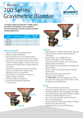 Blenders 200 Series Gravimetric Blender