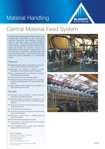 Central Material Feed System