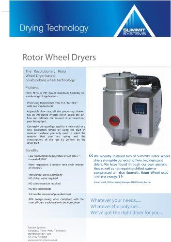 Rotary wheel dryers