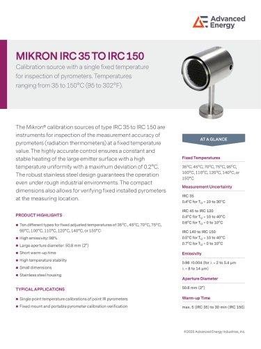 Low Temperature Blackbody Calibration Sources IRC