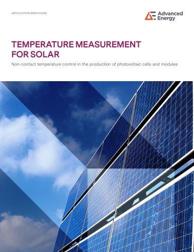 TEMPERATURE MEASUREMENT FOR SOLAR
