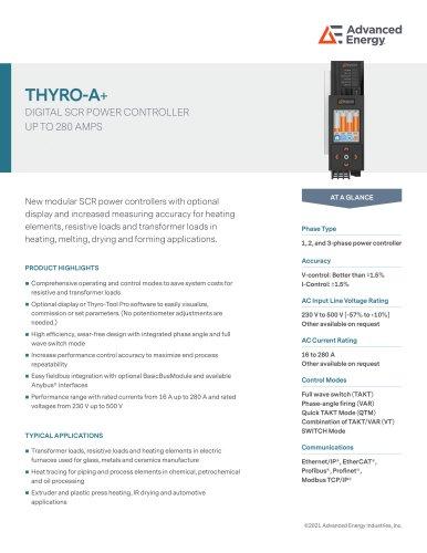 Thyro A+ Series Datasheet