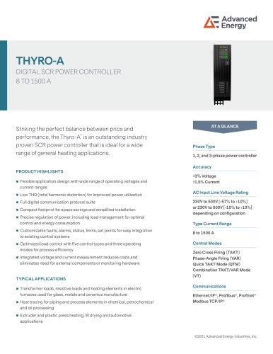 Thyro A Series Datasheet