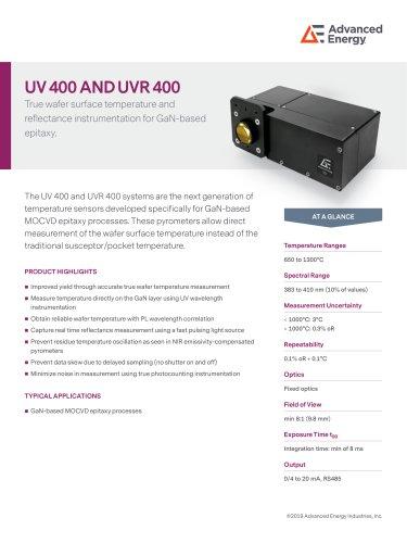 UV 400 Pyrometer Datasheet