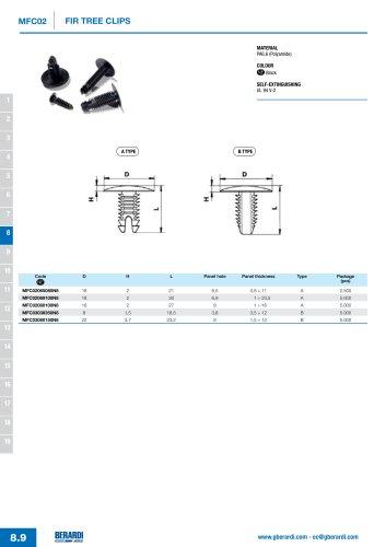 MFC02 - Fir tree clips