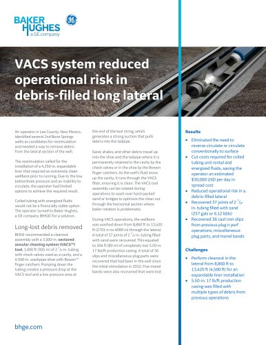 VACS system reduced operational risk in debris-filled long lateral