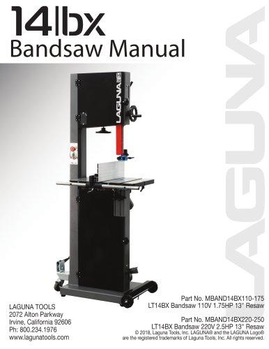 14/BX Bandsaw Manual