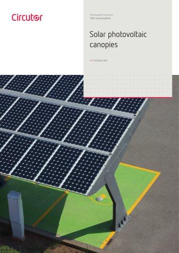 Solar photovoltaic canopies