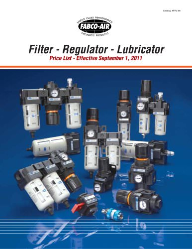 Filter- Regulator - Lubricators Catalog
