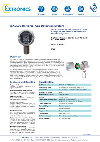 Universal Gas Detection System iGAS100