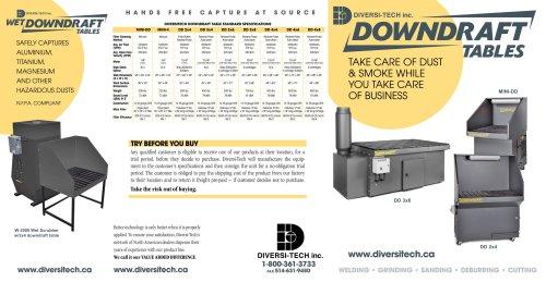 Downdraft Table Brochure