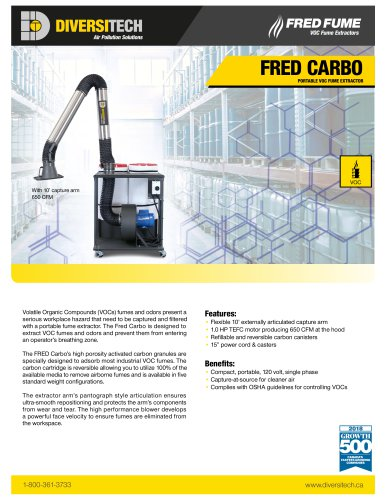 FRED CARBO VOC FUME EXTRACTOR