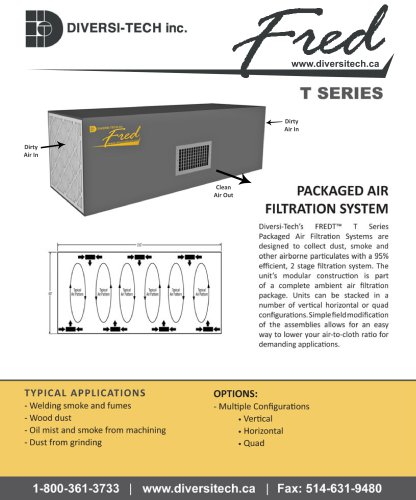 Fred T Series Ambient Air Cleaner