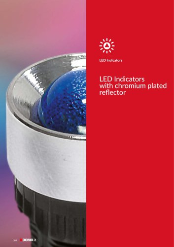 Chromium plated LED indicators