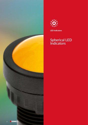 Spherical LED indicator