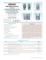 Wall Mount, AC Motor Fan Controls KBWC-315K