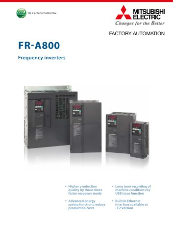 Frequency inverter - FR-A800