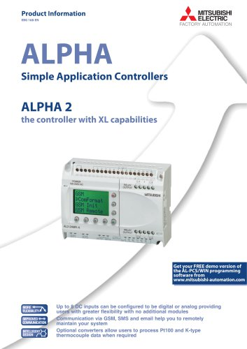 Simple application controllers - ALPHA2-series