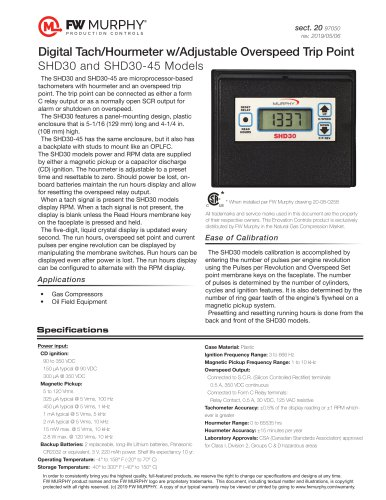 SHD30 and SHD30-45 Models