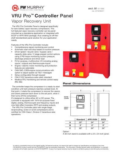 VRU Pro™ Controller Panel