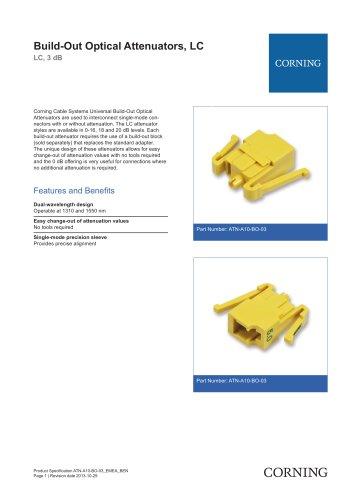 Build-Out Optical Attenuators, LC