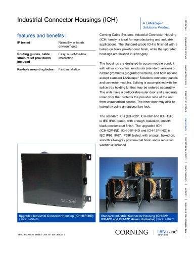 Industrial Connector Housing (ICH)