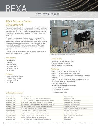 REXA ACTUATOR CABLE
