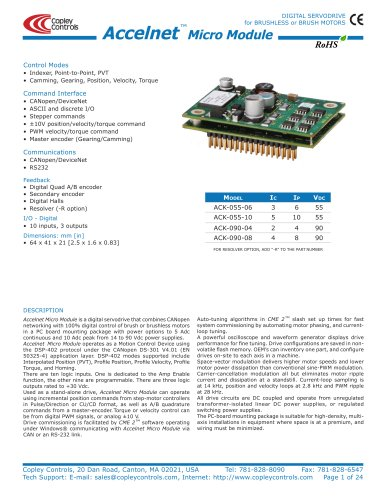 Accelnet Micro Module and Kit