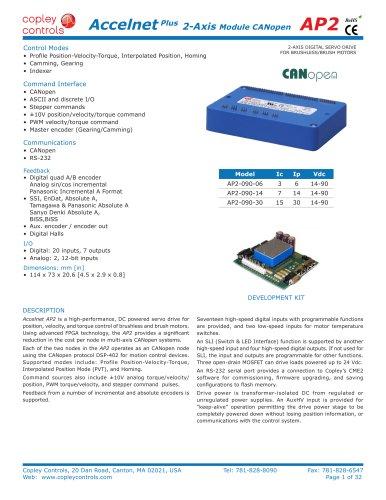 Accelnet Plus CANopen 2-Axis Module