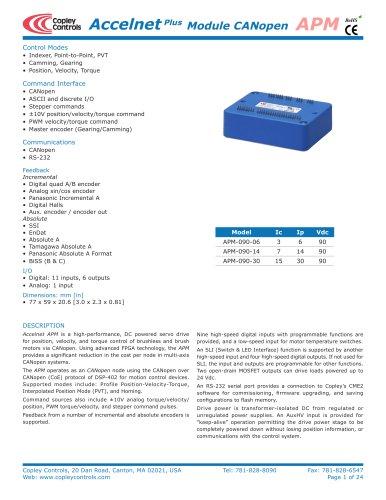 Accelnet Plus Standard 1-Axis Module