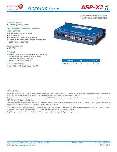 ASP-X2 Accelus Panel Dual