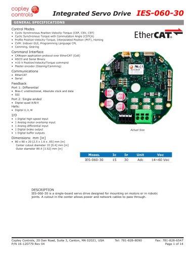 Integrated Servo Drive IES-060-30