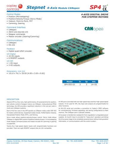 Stepnet 4-Axis Module CANopen SP4