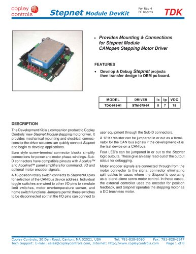 Stepnet Module Development Kit
