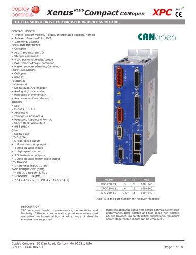 XenusPLUS Compact CANopen XPC