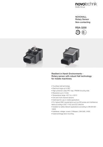 NOVOHALL Rotary Sensor Non-contacting RSA-3200
