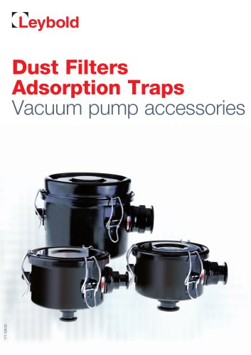 Dust Filters / Adsorption Traps