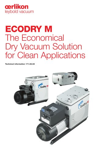 ECODRY M The Economical Dry Vacuum Solution