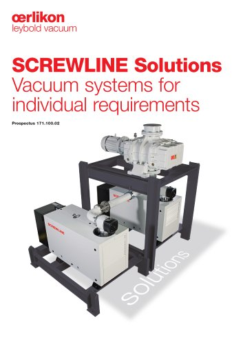 SCREWLINE Solutions Vacuum systems