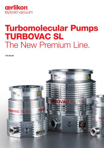 Turbomolecular Pumps TURBOVAC SL